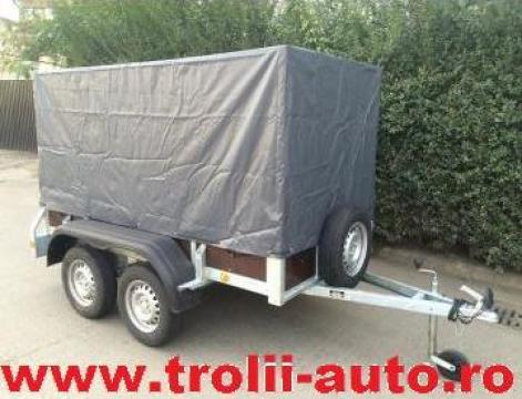 Inchiriere remorca auto 750kg cu doua axe de la Trolii-auto.ro