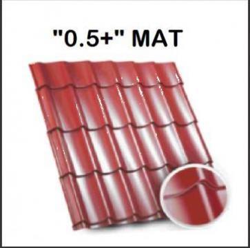 Tigla metalica Bilka Clasic mat 0.5+ de la BDM Roof System
