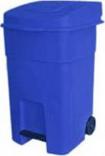 Cos de gunoi din plastic cu pedala si capac 80L de la Fw Support Srl