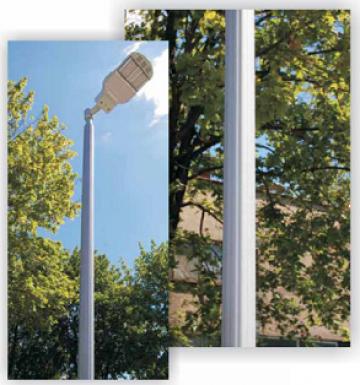 Stalp iluminat aluminiu decorativ 3-5m II de la Rezmat