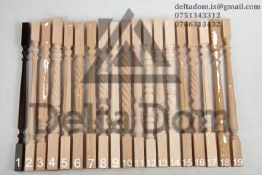 Balustri lemn stejar fag de la Delta Dom