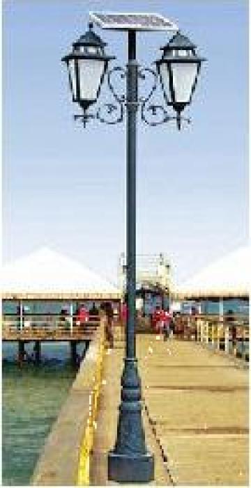 Stalp iluminat parcuri panou solar fotovoltaic PLGS12 30W de la Palagio System Group