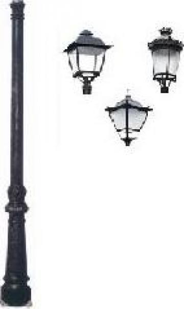 Stalp iluminat ornamental clasic fonta PLGFO8 de la Palagio System Group