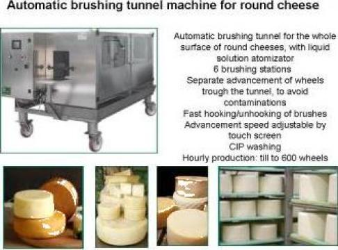 Tunel periaj automat pentru branzeturi rotunde