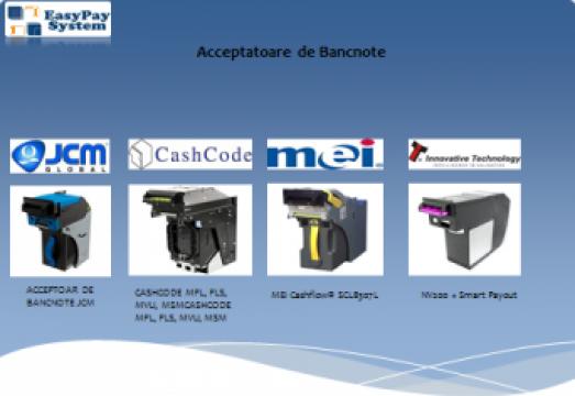 Acceptoare de bancnote de la Easypay System Srl
