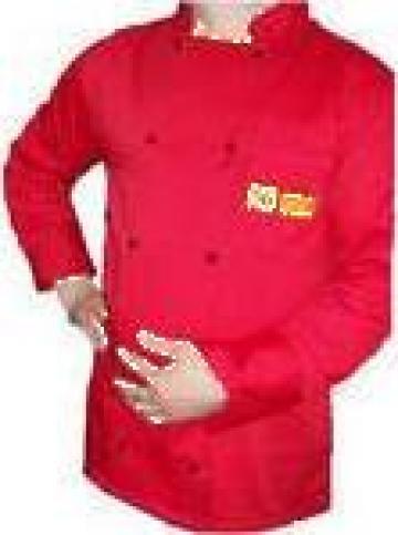 Uniforma rosie pentru bucatari de la Johnny Srl.