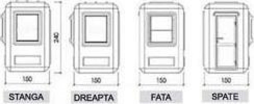 Cabine de paza dimensiuni 1,500-1,500-2,400 metri