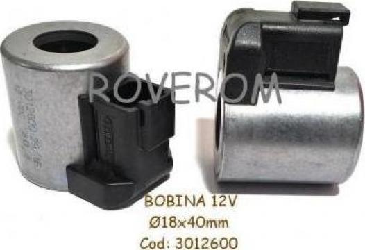 Bobina 12V, D18x40mm, electrovalva hidraulica de la Roverom Srl