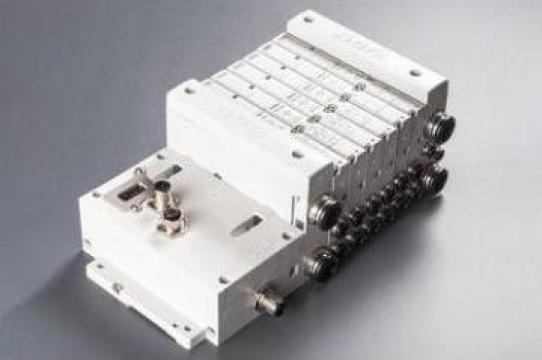 Distribuitoare pneumatice modulare de la Hidraulica Industrial Srl.