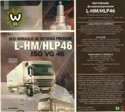 Ulei hidraulic H46 EP (bidon 20 litri)