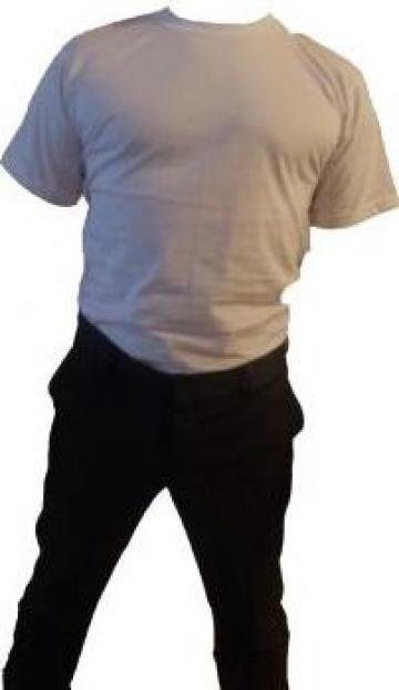Tricou alb cu maneca scurta de vara de la Johnny Srl.