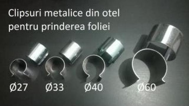 Clipsuri metalice prindere folie sere / solar
