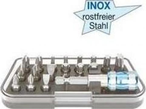 Set biti inoxidabili inox, 18 piese 7534-051 de la Nascom Invest