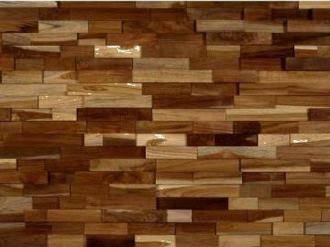 Tapet perete din lemn de teak Malt