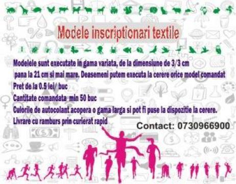 Inscriptionari textile de la ZSD Media Image Srl