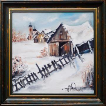 Tablou Iarna in sat de la