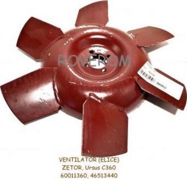 Ventilator (elice) Zetor, Ursus C360 (metalic), 380mm de la Roverom Srl