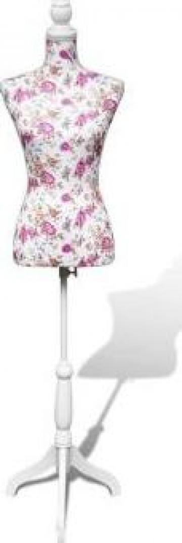 Bust croitorie dama din bumbac cu imprimeu floral de la Vidaxl