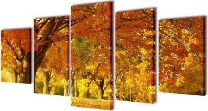 Set tablouri de perete cu imprimeu artar, 200 x 100 cm de la Vidaxl