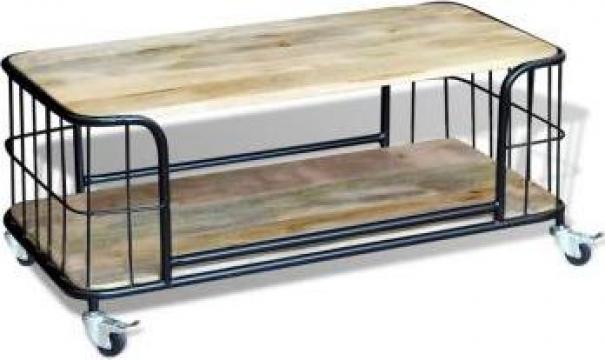 Masuta de cafea din lemn solid de mango 100x50x35 cm