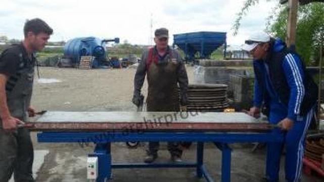 Mese vibrante pentru semifabricate din beton de la Arghir Prodex Srl
