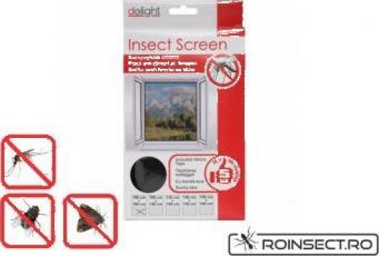Plasa anti insecte pentru ferestre 130x150 cm - alba/neagra de la Agan Trust Srl