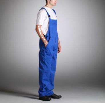 Salopeta de lucru albastra