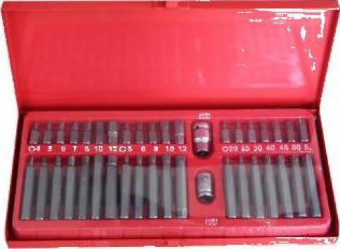 Trusa torx, spline, T-Special, hexagon 1/2 - 3/8 40 buc. de la Zimber Tools