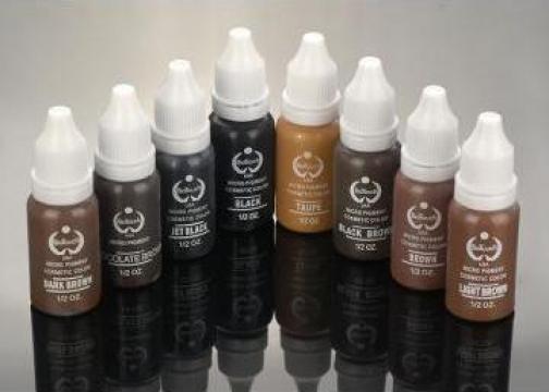 Pigmenti pentru tatuaj facial Biotouch sau NPM International de la