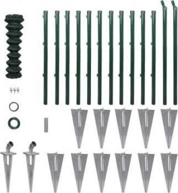 Set gard de sarma cu stalpi cu pivot si accesorii 1,25 x 25m