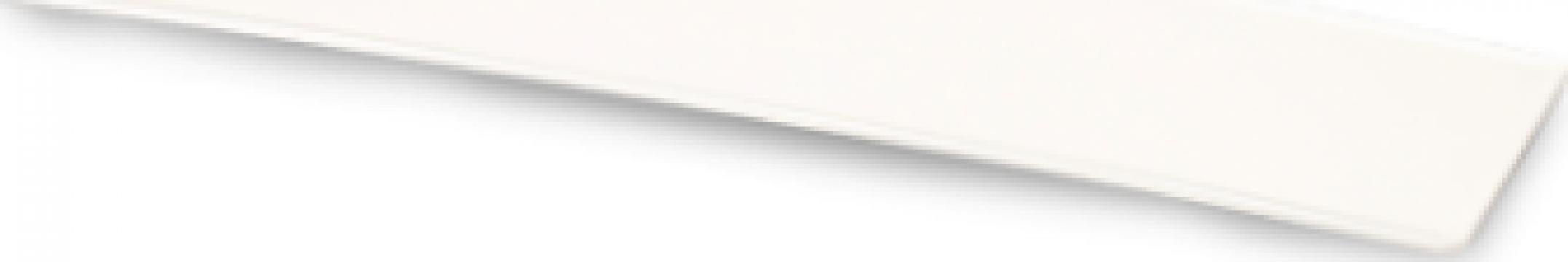 Platou melamina Raki dreptunghiular 19x44.5x1cm alb de la Basarom Com