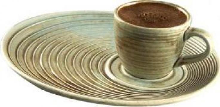 Ceasca cu farfurioara ceramica pentru cafea Bonna Coral de la Basarom Com