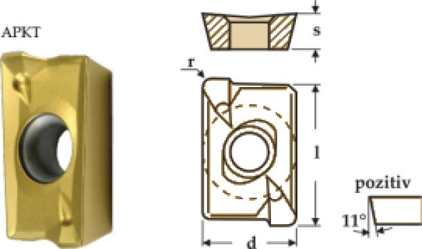 Placute amovibile paralelipipedice 85 grade - APKT de la Electrofrane