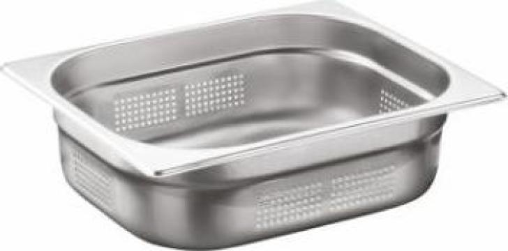 Tava inox perforata gastronorm Ozti 1-2 GNP 150mm de la Basarom Com