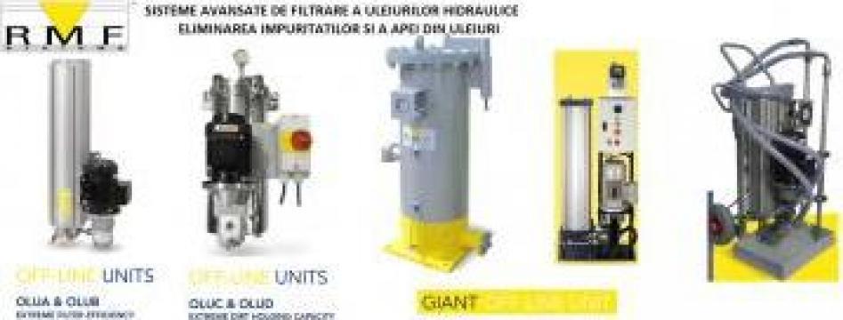 Sistem filtrare si eliminare apa si impuritati din ulei de la Hidraulica Industrial Srl.