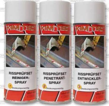 Kit 3 spray-uri detectare fisuri