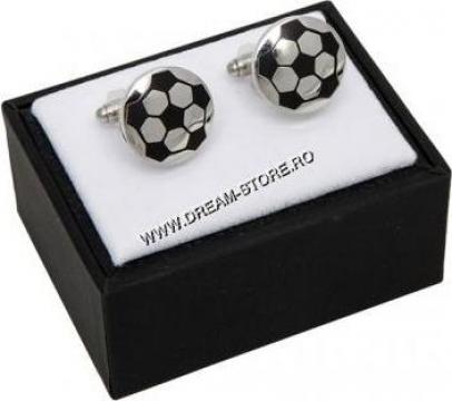 Cadou pentru barbati, butoni minge fotbal DS696503 de la Dream-store.ro