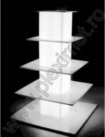 Suport turn cu 5 nivele pentru prajituri SPEv 7 de la Sc Plexi-Met Srl