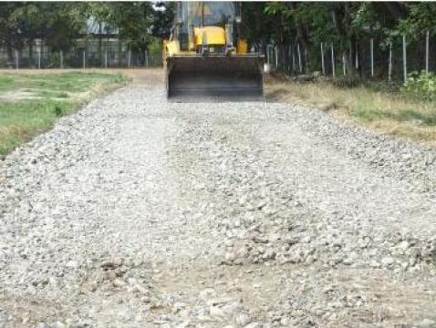 Inchiriere buldoexcavator constructii drumuri, parcari