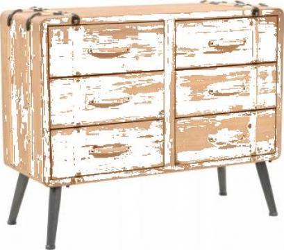 Dulap cu sertare, lemn masiv de brad, 91 x 35 x 73 cm