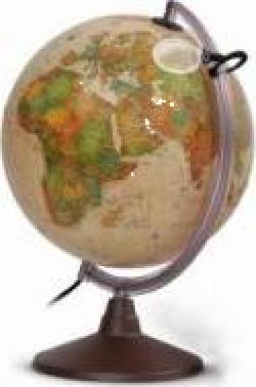 Glob geografic pamantesc iluminat D= 250 mm - Lumea politica de la Eduvolt