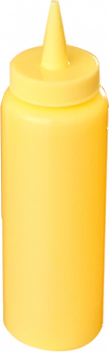 Dispenser mustar 12oz galben de la Basarom Com