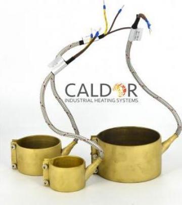 Rezistenta electrica duza Nozzle Heaters 80 x 40 x 500 w de la Caldor Industrial Heating Systems Srl