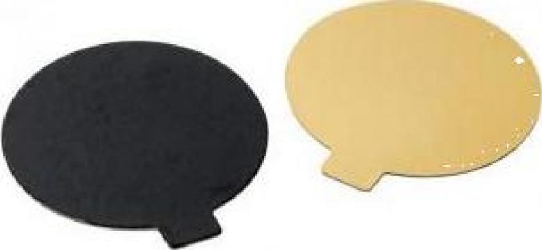 Monoportie carton auriu/negru 8cm, 200 buc/set de la Cristian Food Industry Srl.