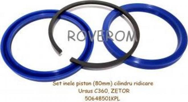 Set inele piston (80mm) cilindru ridicare Ursus C355, C360