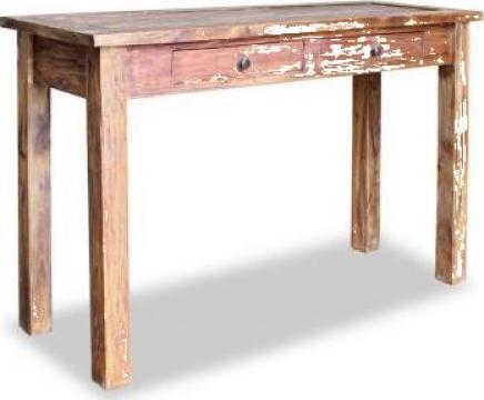 Masa consola, lemn masiv reciclat, 123 x 42 75 cm de la Vidaxl