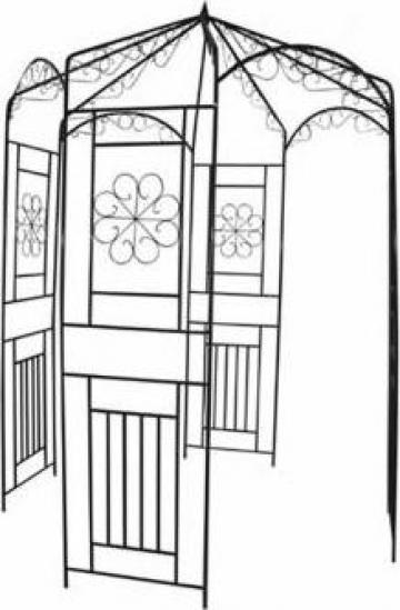 Pergola arcuri cu trandafiri 250 cm de la Vidaxl