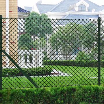 Gard de sarma 1,25 x 15 m verde cu stalpi