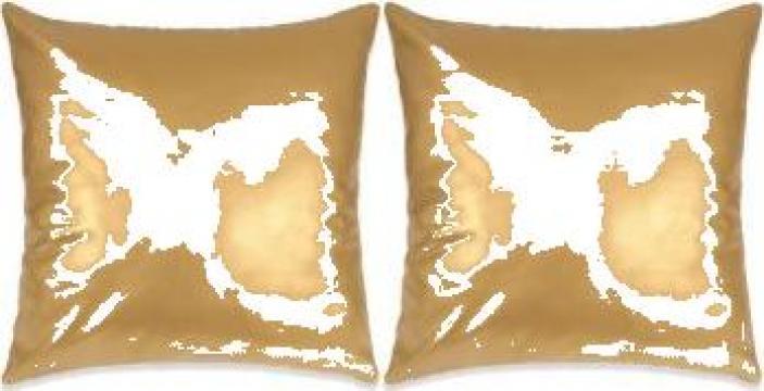 Set perne decorative 2 buc. poliuretan 60x60 cm auriu de la Vidaxl