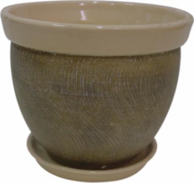 Ghiveci din ceramica pentru flori cu suport 6124